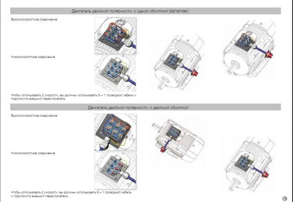 Электродвигатели двухскоростные